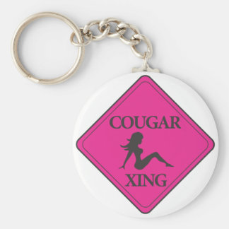 Cougar Crossing Pink Keychain