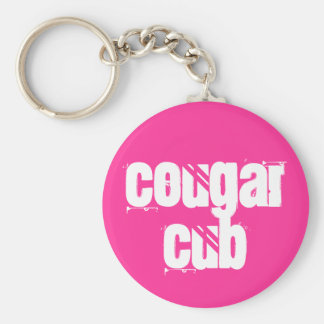 Cougar Cub Basic Round Button Keychain