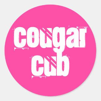 Cougar Cub Classic Round Sticker