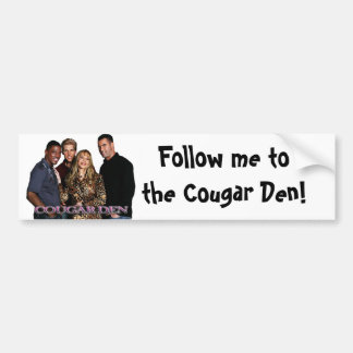 COUGAR DEN BUMPER STICKER