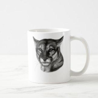 Cougar Drawing Coffee Mug