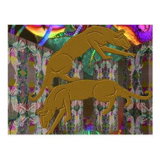 Cougar Fantasy Postcard