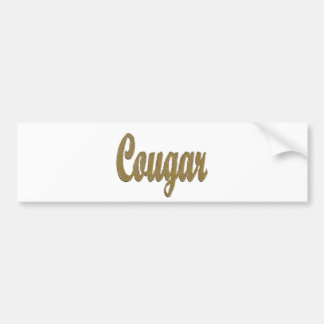 Cougar - Furry Text Car Bumper Sticker