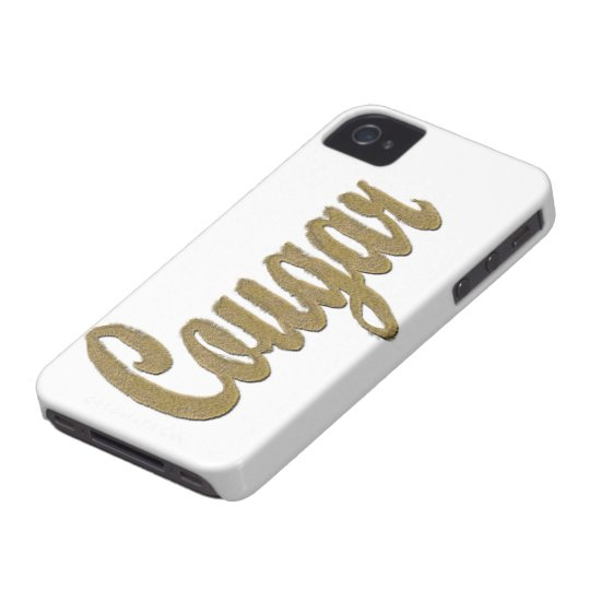 Cougar - Furry Text iPhone 4 Case