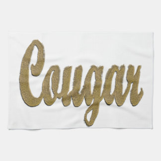 Cougar - Furry Text Hand Towel