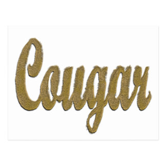 Cougar - Furry Text Postcard
