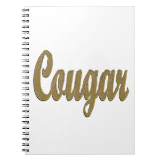 Cougar - Furry Text Spiral Note Book