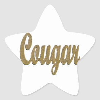 Cougar - Furry Text Star Sticker