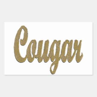 Cougar - Furry Text Rectangular Sticker