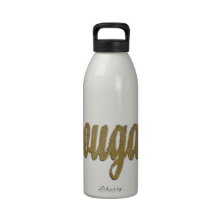 Cougar - Furry Text Drinking Bottles