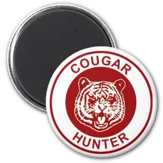 Cougar Hunter 2 Inch Round Magnet