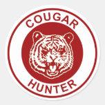 Cougar Hunter Classic Round Sticker