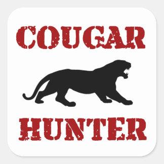 Cougar Hunter Square Sticker