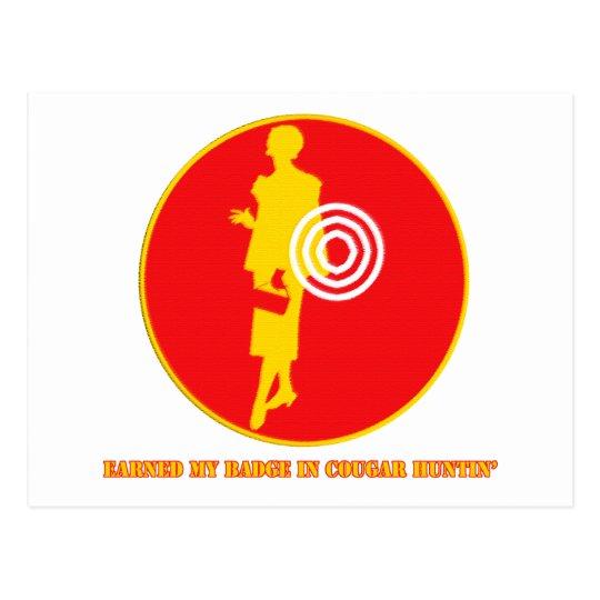 Cougar Huntin Merit Badge Postcard