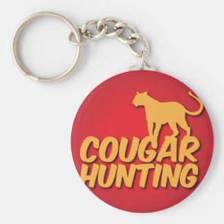 COUGAR Hunting with panther cat Keychain