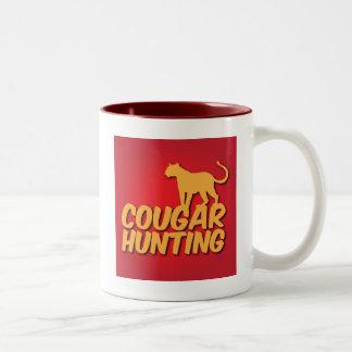 COUGAR Hunting with panther cat Mug