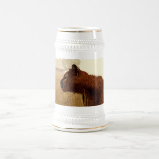 Cougar in a Field Beer Stein