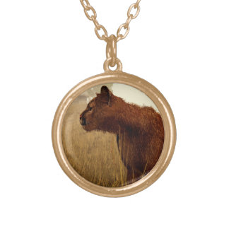 Cougar in a Field Pendant