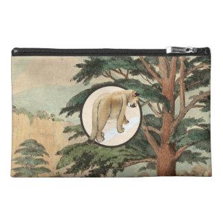 Cougar In Natural Habitat Illustration Travel Accessories Bags
