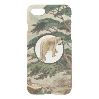 Cougar In Natural Habitat Illustration iPhone 7 Case