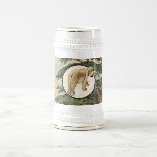 Cougar In Natural Habitat Illustration Coffee Mug