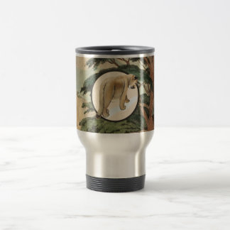 Cougar In Natural Habitat Illustration Mugs