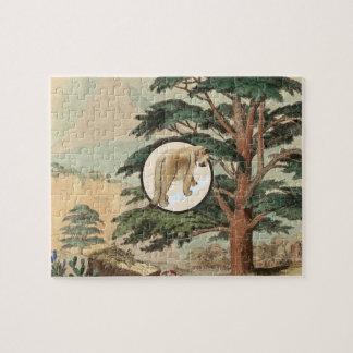 Cougar In Natural Habitat Illustration Jigsaw Puzzles