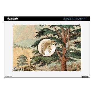 Cougar In Natural Habitat Illustration Samsung Chromebook Skins