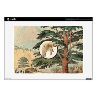 Cougar In Natural Habitat Illustration Laptop Decal