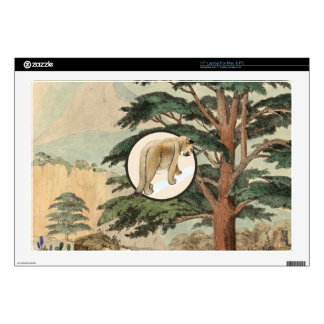 Cougar In Natural Habitat Illustration Laptop Skin