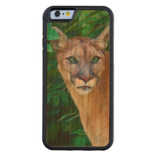 Cougar in the Jungle Carved® Cherry iPhone 6 Bumper