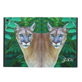 Cougar in the Jungle, Customizable Monogram Powis iPad Air 2 Case