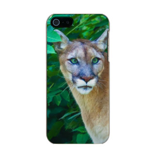 Cougar in the Jungle Metallic Phone Case For iPhone SE/5/5s