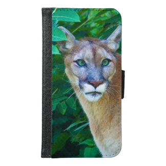 Cougar in the Jungle Wallet Phone Case For Samsung Galaxy S6
