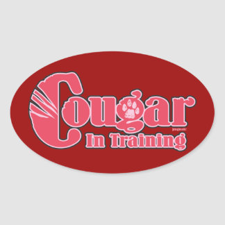 Cougar in Training Oval Sticker