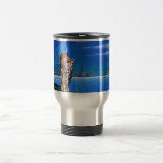 Cougar island scene travel mug