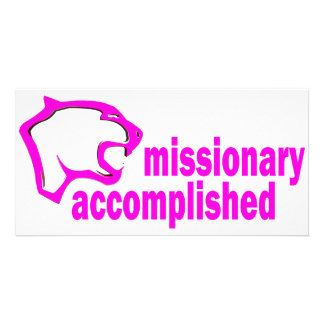 Cougar Missionary Accomplished Photo Greeting Card