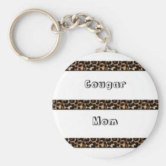 Cougar Mom Basic Round Button Keychain