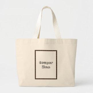 Cougar Mom Large Tote Bag