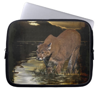Cougar Mountain Lion Artwork Laptop Sleeve