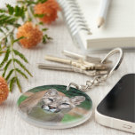 Cougar, mountain lion beautiful photo, gift round acrylic key chain