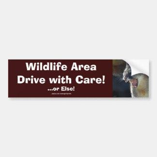 Cougar Mountain Lion Big Cat Art Bumper Stickers