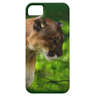 Cougar Mountain Lion Big Cat Art iPhone 5 Cases