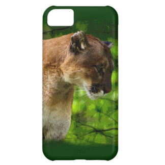 Cougar Mountain Lion Big Cat Art Case For iPhone 5C