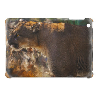 Cougar Mountain Lion Big Cat Art Design 4 iPad Mini Cover