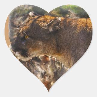 Cougar Mountain Lion Big Cat Art Design 4 Sticker