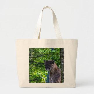 Cougar Mountain Lion Big Cat Art Design 6 Large Tote Bag