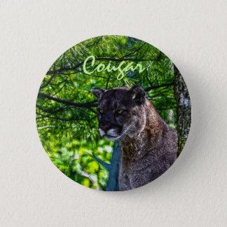 Cougar Mountain Lion Big Cat Art Design 6 Pinback Button