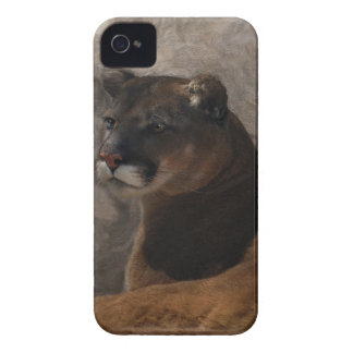 Cougar Mountain Lion Big Cat Art Design Case-Mate iPhone 4 Case