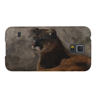 Cougar Mountain Lion Big Cat Art Design Galaxy S5 Case